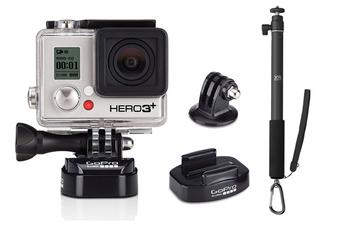 Caméra sport HERO3+S + FIXATION + PERCHE Gopro