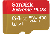 Carte micro SD Sandisk MSD EXT PLUS 64GB