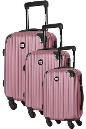 valise bag stone 3 valises america 4 roues rose darty. Black Bedroom Furniture Sets. Home Design Ideas