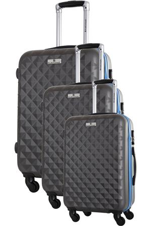 valise platinium ensemble de 3 valises s m l gris darty. Black Bedroom Furniture Sets. Home Design Ideas