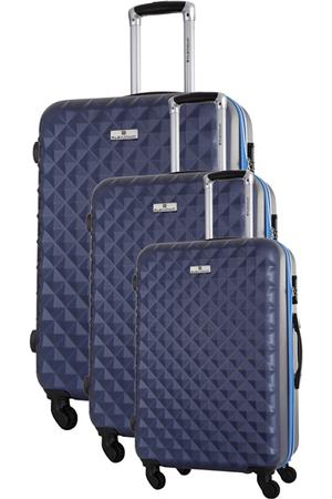 valise platinium ensemble de 3 valises s m l bleu marine darty. Black Bedroom Furniture Sets. Home Design Ideas