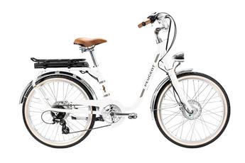Vélo électrique Peugeot VAE City E-Legend 24 pouces moteur Roue Avant Blanc