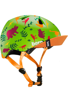 Casque et protection Bern Tigre Satin Green Dino w/ Flip...