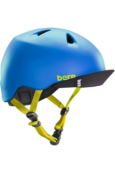 Casque et protection Bern Nino Matte Blue w/ Flip Visor - XS/S
