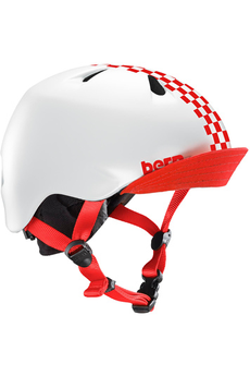 Casque et protection Bern Nina Satin Red Checkers w/ Flip...