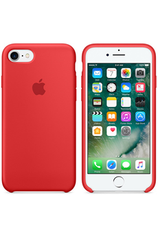 Housse pour iPhone CASE SIL IPH7 RED Apple