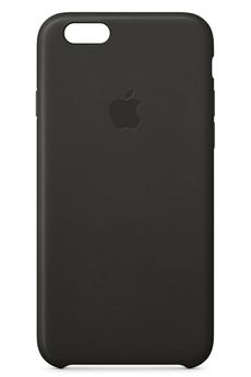 Housse pour iPhone COQUE CUIR NOIR POUR IPHONE 6 Apple