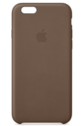Apple COQUE CUIR MARRON POUR IPHONE 6