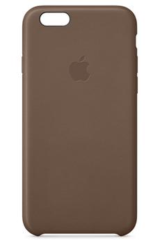 Housse pour iPhone COQUE CUIR MARRON POUR IPHONE 6/6S Apple
