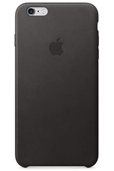Housse pour iPhone COQUE DE PROTECTION EN CUIR NOIR POUR IPHONE 6 PLUS/6S PLUS Apple