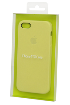 Housse pour iPhone Coque iPhone 5/5S Jaune Apple