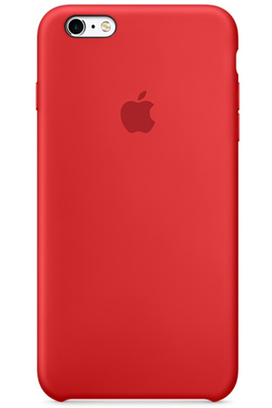 coque iphone 6 apple rouge silicone