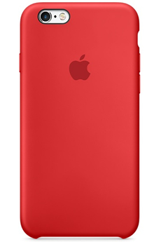 Housse pour iPhone COQUE DE PROTECTION EN SILICONE ROUGE POUR IPHONE 6/6S Apple