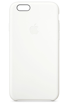 Housse pour iPhone COQUE SILICONE BLANCHE POUR IPHONE 6/6S Apple