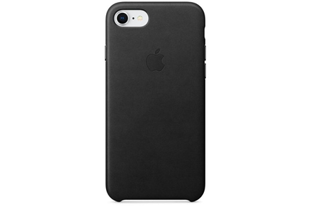coque iphone apple coque en cuir pour iphone 8 7 noir darty. Black Bedroom Furniture Sets. Home Design Ideas