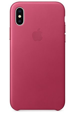 coque iphone apple coque en cuir pour iphone x fuchsia darty. Black Bedroom Furniture Sets. Home Design Ideas