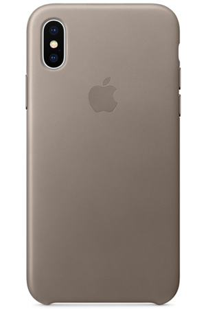 Coque Iphone Apple Coque En Cuir Pour Iphone X Taupe