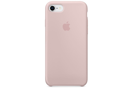Coque iPhone Apple Coque en silicone pour iPhone 8 / 7 , Rose des sables