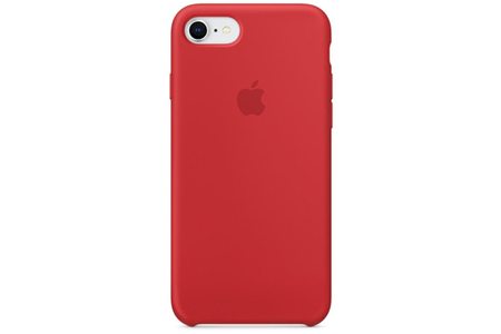 iphone 7 coque silicone rouge