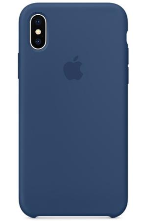 coque iphone x silicone bleu