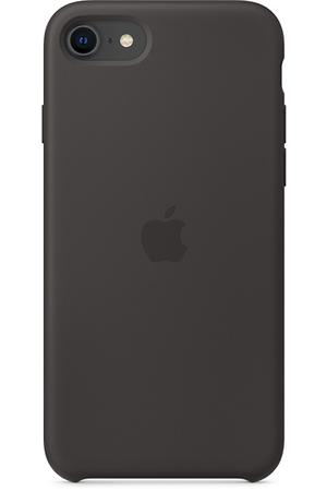 Coque Noire en Silicone pour iPhone SE (2020)