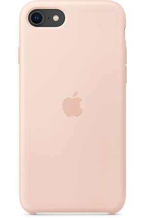 Coque Rose des Sables en Silicone pour iPhone SE (2020)