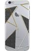 Housse pour iPhone COQUE DE PROTECTION TRANSPARENTE TRIANGLE NOIR ET OR POUR IPHONE 7 Bigben