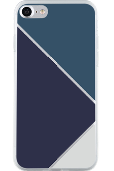 Coque iPhone Bigben COQUE DE PROTECTION TRIANGLES BLEUS POUR IPHONE 7