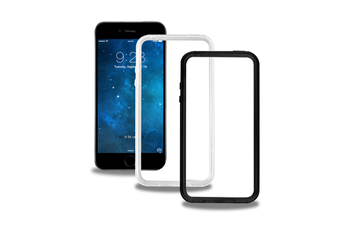 Housse pour iPhone 2 BUMPERS NOIR ET TRANSPARENT POUR IPHONE 6/6S Blueway