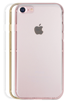 Housse pour iPhone PACK COQUE DE PROTECTION + 3 BUMPER ROSE POUR IPHONE 7 Case Scenario