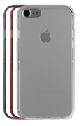 Housse pour iPhone Case Scenario PACK COQUE DE PROTECTION + 3 BUMPER GRIS POUR IPHONE 7
