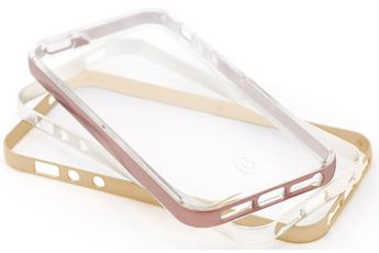 Housse pour iPhone PACK COQUE DE PROTECECTION + 3 CONTOUR DE COULEUR ROSE, OR ET ARGENT POUR IPHONE 5/5S/SE Case Scenario