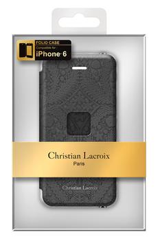 Housse pour iPhone ETUI FOLIO PASEO NOIR POUR IPHONE 6 Christian Lacroix
