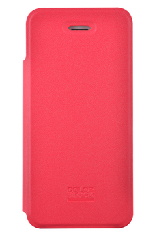 Housse pour iPhone ETUI FOLIO ROUGE COLORBLOCK POUR IPHONE 5/5S Colorblock
