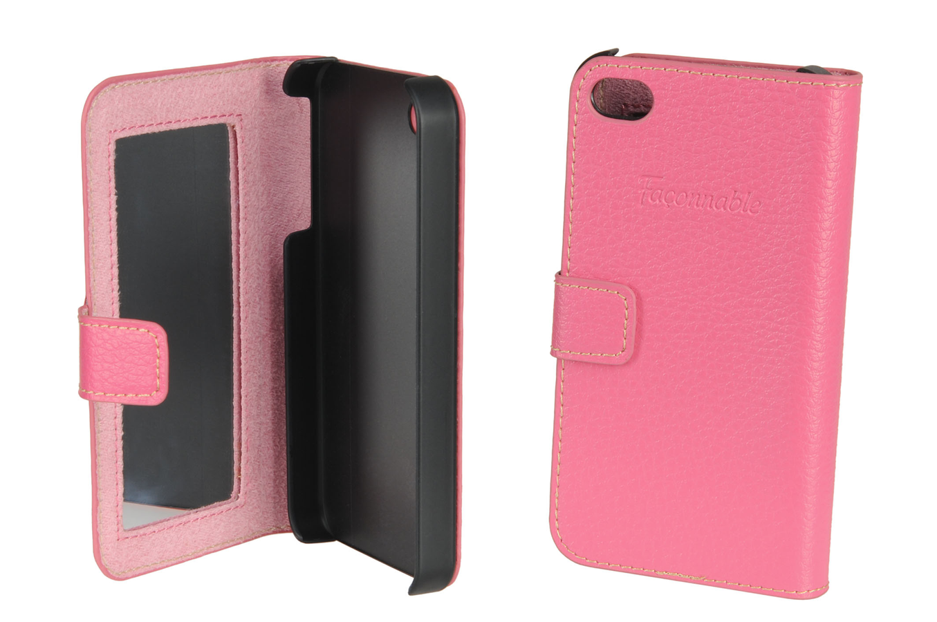 Housse pour iphone faconnable etui folio iphone 4 4s rose for Housse pour iphone