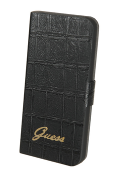 Housse pour iPhone ETUI CROCO IPHONE 5C NOIR Guess