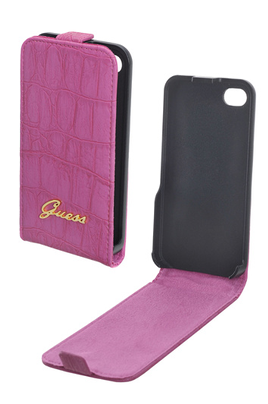 Housse pour iPhone ETUI CROCO ROSE GUESS IPHONE 4/4S Guess