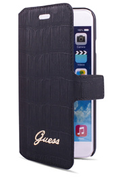 Guess ETUI FOLIO CROCO NOIR POUR IPHONE6