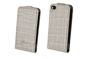 Housse pour iPhone Guess Etui Glossy croco iPhone 4/4S
