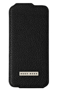 Hugo Boss ETUI FLIP HUGO BOSS CUIR NOIR POUR IPHONE 5/5S