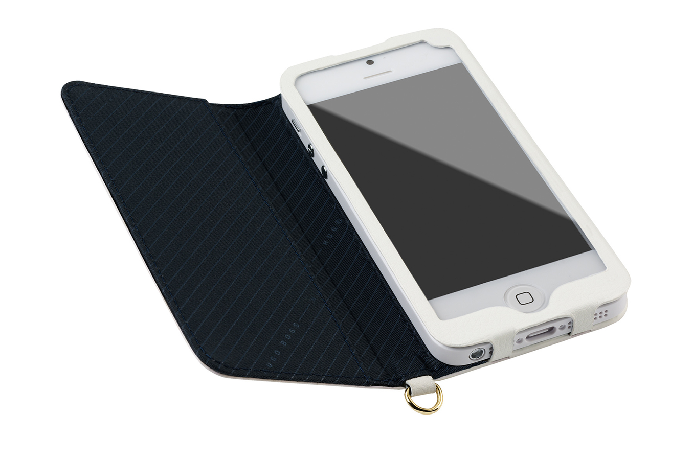 Housse pour iphone hugo boss etui folio cuir hugo boss for Housse pour iphone 5