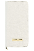 Hugo Boss ETUI FOLIO CUIR HUGO BOSS BLANC POUR IPHONE 5/5S