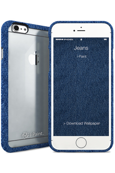 Housse pour iPhone COQUE DE PROTECTION GHOST BLEU JEANS POUR IPHONE 6/6S I-paint