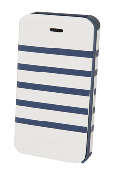Housse pour iPhone Etui Folio Marinière (blanc/bleu) Jean Paul Gaultier iPhone 4/4S Jpg