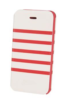 Housse pour iPhone Etui Folio Marinière (blanc/rouge) Jean Paul Gaultier iPhone 5/5S Jpg