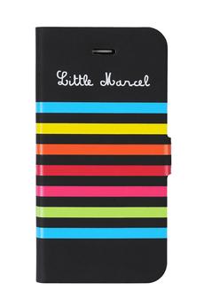 Housse pour iPhone Etui folio noir pour iPhone 5/5S Little Marcel