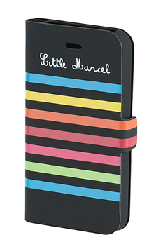 Housse pour iPhone Folio à rayures Little Marcel iPhone 4/4s blanc Little Marcel