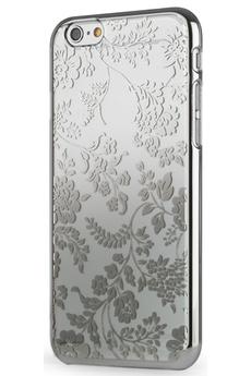 Housse pour iPhone COQUE TRANSPARENTE MOTIF FLEUR ARGENT POUR IPHONE 6 Meliconi