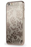 Meliconi COQUE TRANSPARENTE MOTIF FLEUR OR POUR IPHONE 6