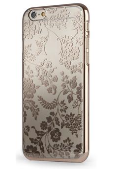 Housse pour iPhone COQUE TRANSPARENTE MOTIF FLEUR OR POUR IPHONE 6 Meliconi